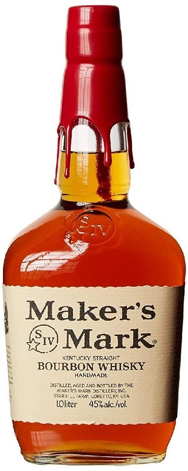 【送料無料】バーボンウイスキー メーカーズマーク 45度 1000ml 1L×6本【北海道・沖縄県・東北・四国・九州地方は必ず送料が掛かります】