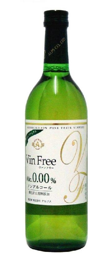 【送料無料】【ノンアルコールワイン】長野県 アルプス ヴァン フリー 白 0.00% 720ml×12本