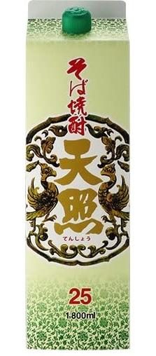 【送料無料】宮崎県 神楽酒造 そば焼酎 天照 25度 1800ml 1.8L×12本【北海道・沖縄県・東北・四国・九州地方は必ず送料が掛かります】