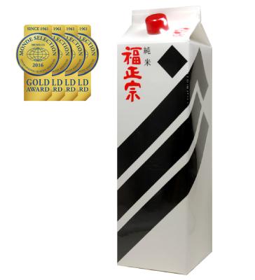 【送料無料】日本酒 石川 福光屋 福正宗 黒ラベル 特別純米酒 1800ml 1.8L×6本【北海道・沖縄県・東北・四国・九州地方は必ず送料が掛かります】