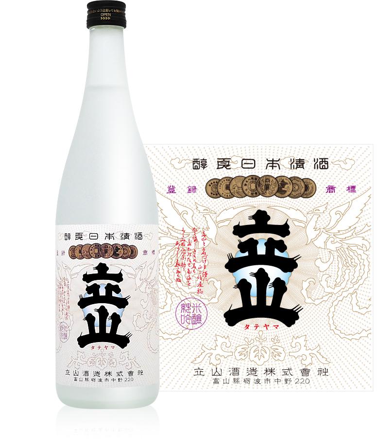 富山県内をはじめ 北陸でも屈指の日本酒メーカー 厳選された良質の山田錦を高精白にして醸した純米吟醸酒 富山の地酒 立山酒造 720ml 1本 人気 おすすめ ご注文は12本まで同梱可能 純米吟醸 年間定番
