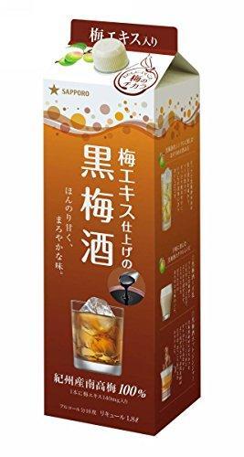 【送料無料】サッポロ 黒梅酒 紙パック 1800ml 1.8L×12本/2ケース【北海道・沖縄県・東北・四国・九州地方は必ず送料が掛かります。】