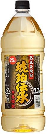 【送料無料】福徳長酒類 熟成麦焼酎 琥珀伝承 25度 2700ml 2.7L×6本/1ケース【北海道・東北・四国・九州・沖縄県は別途送料がかかります】