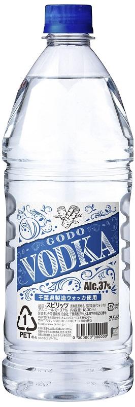 【送料無料】合同酒精 GODO ウォッカ 37度 1800ml 1.8L×12本【北海道・沖縄県・東北・四国・九州地方は必ず送料が掛かります】