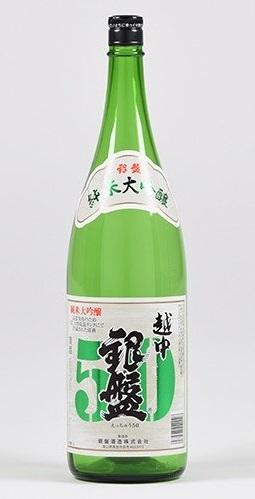 【送料無料】【富山の地酒】銀盤酒造 純米大吟醸 越中50 1800ml 1.8L×6本【北海道・東北・四国・九州・沖縄県は必ず送料がかかります】