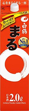 【送料無料】【2ケース販売】白鶴 まる 2000ml×12本【北海道・沖縄県・東北・四国・九州地方は必ず送料が掛かります。】