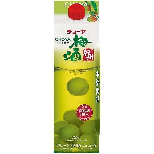 【送料無料】CHOYA チョーヤ 梅酒 パック 1000ml 1L×12本【北海道・沖縄県・東北・四国・九州地方は必ず送料が掛かります】