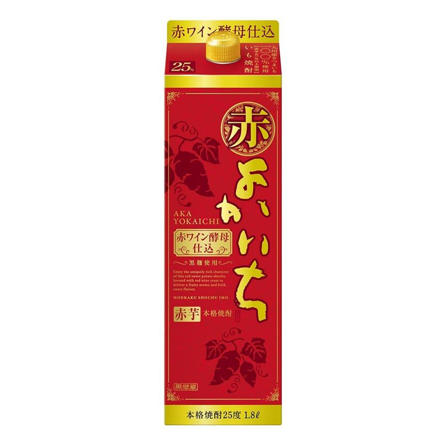 【送料無料】宝酒造 本格芋焼酎 赤よかいち 芋 25度 パック 1.8L×12本/2ケース【北海道・沖縄県・東北・四国・九州地方は必ず送料が掛かります。】