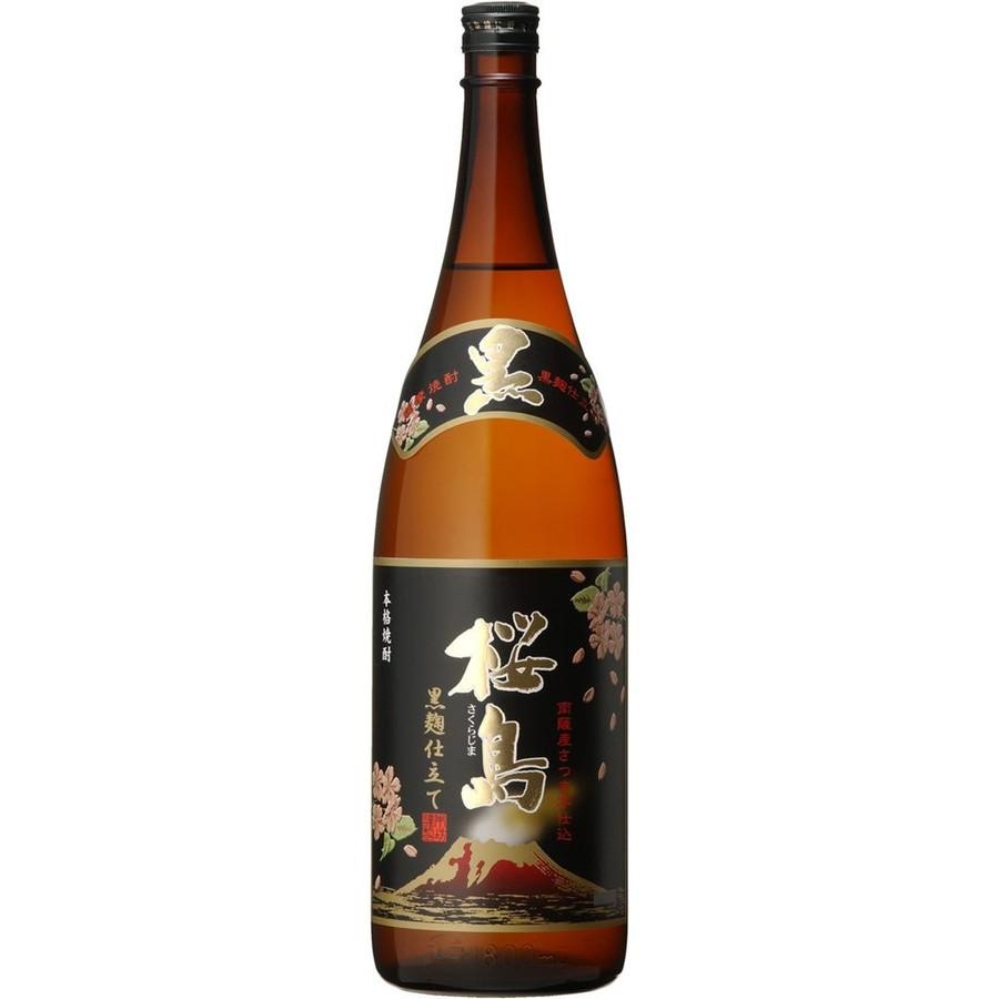 【送料無料】本坊酒造 桜島 黒麹 芋 25度 1.8×6本/1ケース【北海道・沖縄県・東北・四国・九州地方は必ず送料が掛かります】
