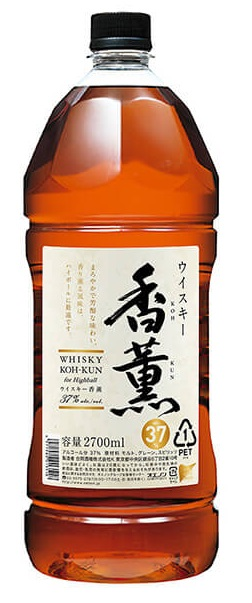 【ケース販売】【送料無料】合同酒精 ウィスキー 香薫 37度 2700ml(2.7L)×6本 【北海道・沖縄県・東北・四国・九州地方は必ず送料が掛かります。】