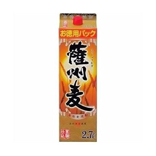 【送料無料】【2ケース販売】若松酒造 薩州麦 25度 2700ml×8本【北海道・沖縄県・東北・四国・九州地方は必ず送料が掛かります。】