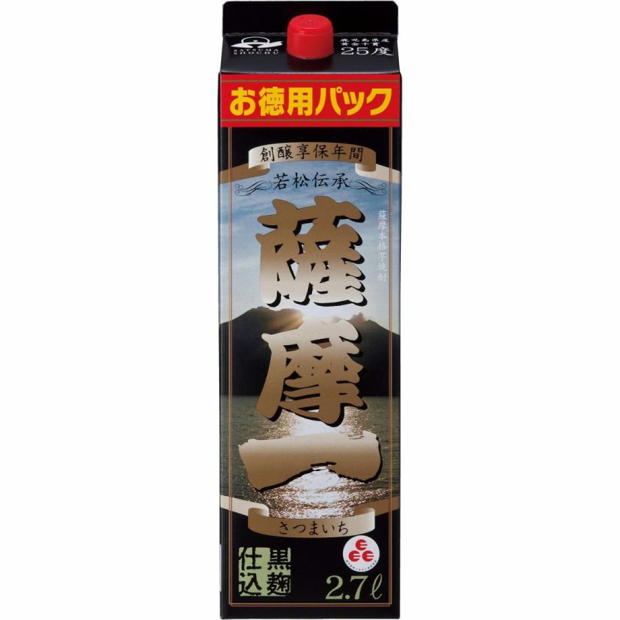 【あす楽】 【送料無料】若松酒造 薩摩一 芋 25度 2700ml(2.7L)×8本【北海道・沖縄県・東北・四国・九州地方は必ず送料が掛かります。】