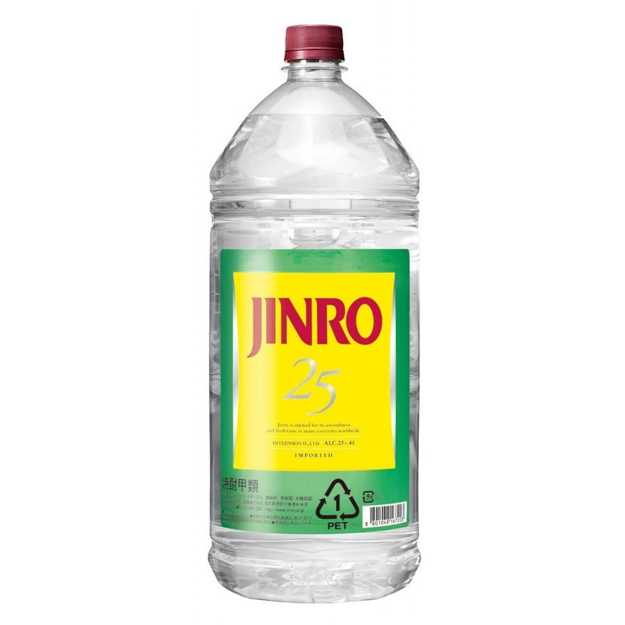 【送料無料】JINRO ジンロ 真露 25度 4L×4本【北海道・沖縄県・東北・四国・九州地方は必ず送料が掛かります。】