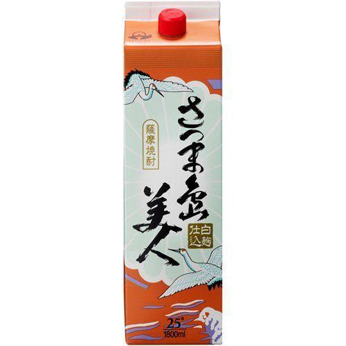 【送料無料】長島研醸 さつま島美人 芋 25度 パック 1800ml 1.8L×12本/2ケース【北海道・沖縄県・東北・四国・九州地方は必ず送料が掛かります。】