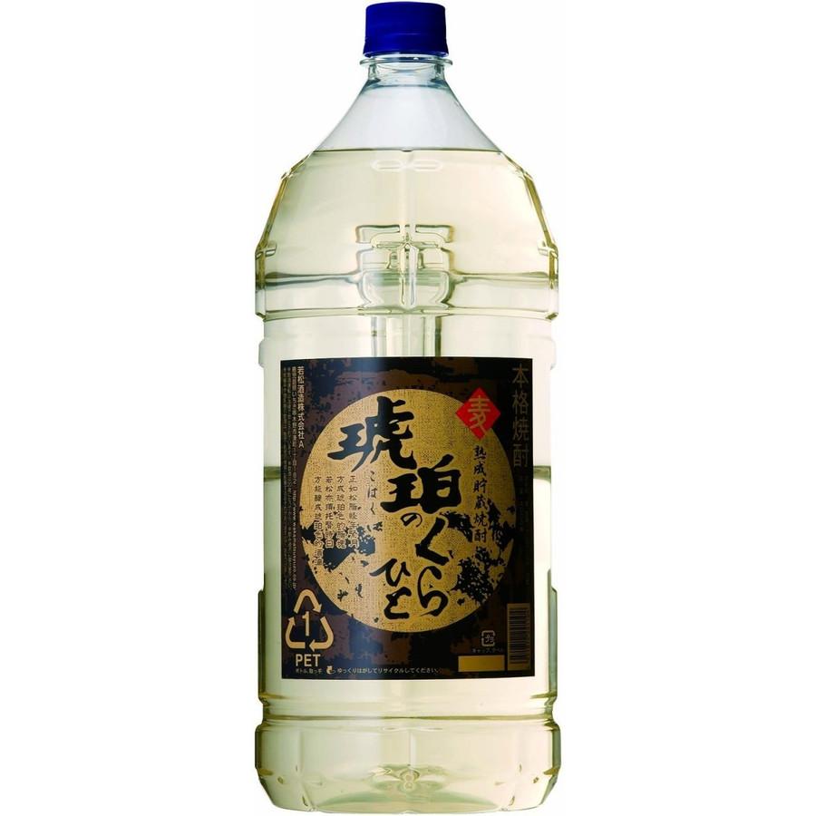 マート 市場最安値に挑戦 あす楽 若松酒造 琥珀の蔵人 定価 25度 1本 ご注文は4本まで1個口配送可能です 4000ml 4L