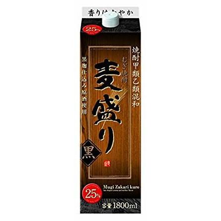 【送料無料】合同酒精 麦盛り 黒 25度 1.8L×12本【北海道・沖縄県・東北・四国・九州地方は必ず送料が掛かります】