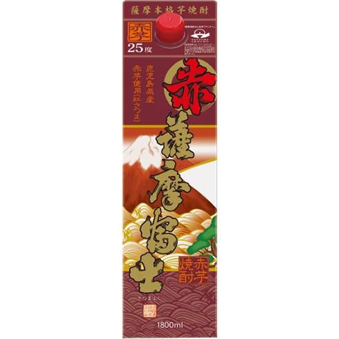 【送料無料】濱田酒造 赤薩摩富士 芋 25度 パック 1.8L×12本【北海道・沖縄県・東北・四国・九州地方は必ず送料が掛かります。】