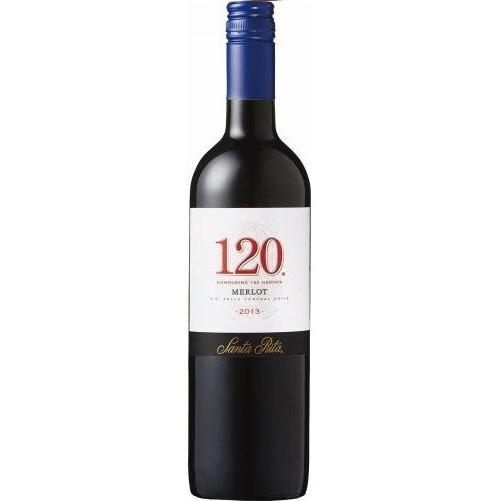 【チリ国内シェアNo.1ワイナリー サンタ・リタ】サンタ・リタ 120(シェント・ベインテ)メルロー 750ml×12本 [チリ/赤ワイン/辛口/ライトボディ]【北海道・沖縄県・東北・四国・九州地方は必ず送料が掛かります。】