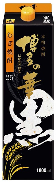 【送料無料】【2ケースセット】博多の華 黒麹 麦 25度 パック 1800ml×12本【北海道・沖縄県・東北・四国・九州地方は必ず送料が掛かります。】