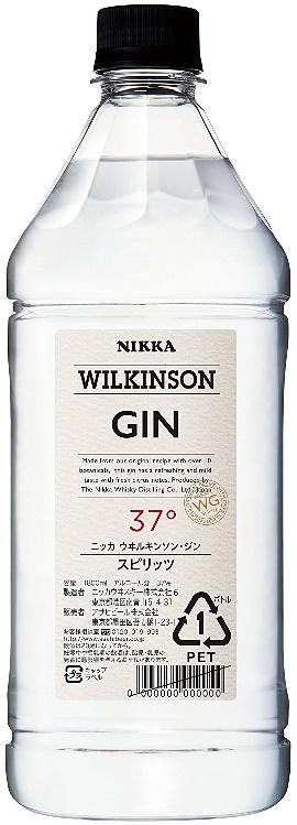 【送料無料】【ケース販売】アサヒ ウィルキンソン ジン 37度 6本 PET 1800ml【北海道・沖縄県・東北・四国・九州地方は必ず送料が掛かります。】