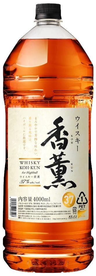 【ケース販売】【送料無料】合同酒精 ウィスキー 香薫 37度 4本 4000ml(4L)(ペットボトル)【北海道・沖縄県・東北・四国・九州地方は必ず送料が掛かります。】