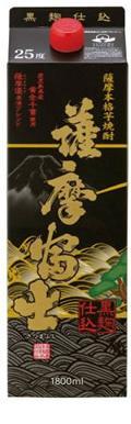 【送料無料】【2ケースセット】濱田酒造 黒 薩摩富士 芋 25度 1800mlパック×12本【北海道・沖縄県・東北・四国・九州地方は必ず送料が掛かります。】