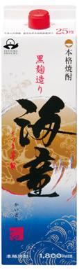 【送料無料】濱田酒造 傳藏院蔵 芋焼酎 海童 黒麹 25度 パック 1800ml1.8L×12本/2ケース【北海道・沖縄県・東北・四国・九州地方は必ず送料が掛かります】