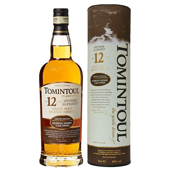 トミントール 12年 オロロソシェリーカスク フィニッシュ 40度 700ml 並行輸入品 イギリス モルト ウイスキー 完売 シングルモルト スコッチ お値打ち価格で スコットランド スペイサイド