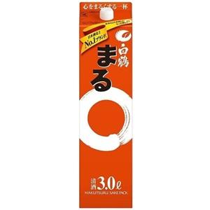 【清酒】白鶴 まる 3000mlパック 1ケース(4本入り)