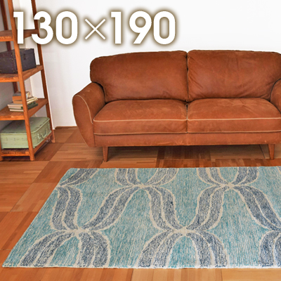 【8/2~ SALE】ラグマット 北欧 カーぺット インド ウール コットン 高級 毛 綿ラジ RAJ-1614約130×190cm【北欧 ヴィンテージ サーフ カジュアル じゅうたん絨毯玄関】