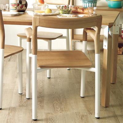 チェア 椅子 スタイリッシュ ナチュラル デザイナーズ パイプ椅子 キッチン リビングバルコニー デッキ ウッド フロースモールテーブル\送料無料/一部地域要