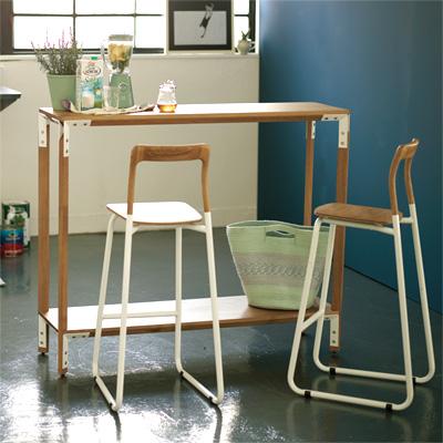 チェア 椅子 スタイリッシュ ナチュラル デザイナーズ パイプ椅子 キッチン リビングバルコニー デッキ ウッド フローチェア FLO