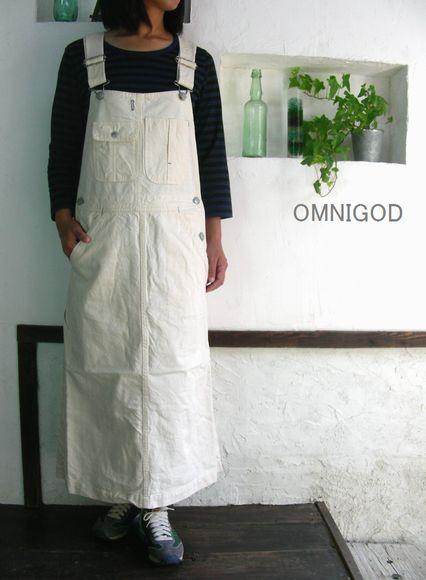 5%OFFクーポン配布中→8/18(火)11:59まで OMNIGOD(オムニゴッド) ネップツイル オーバーオールスカート【SMTB-ms】