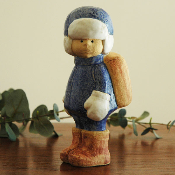 Lisa Larsonリサラーソン School Boy(スクールボーイ)初登校 彫像シリーズ 北欧オブジェ 置物【送料無料】