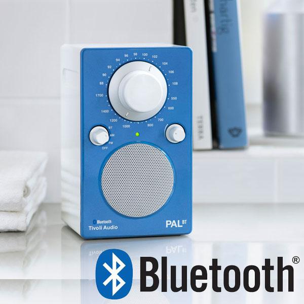 PAL BT(パル・ビーティー)Glossy Blue Bluetooth対応モデル ブルー×ホワイト ポータブルラジオ Tivoli Audio(チボリオーディオ)【送料無料】