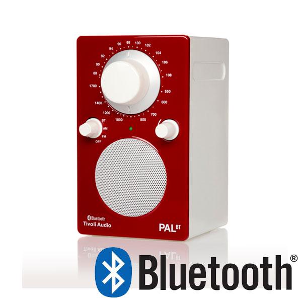 PAL BT(パル・ビーティー)Bluetooth対応モデルGlossy Red レッド×ホワイト ポータブルラジオ Tivoli Audio(チボリオーディオ)【送料無料】