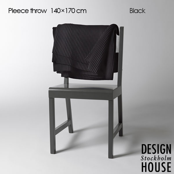 Pleece Throw(プリース・スロー)ブラック ひざ掛け140×170cm DESIGN HOUSE stockholm(デザインハウス ストックホルム)北欧デザイン【HLS_DU】【送料無料】