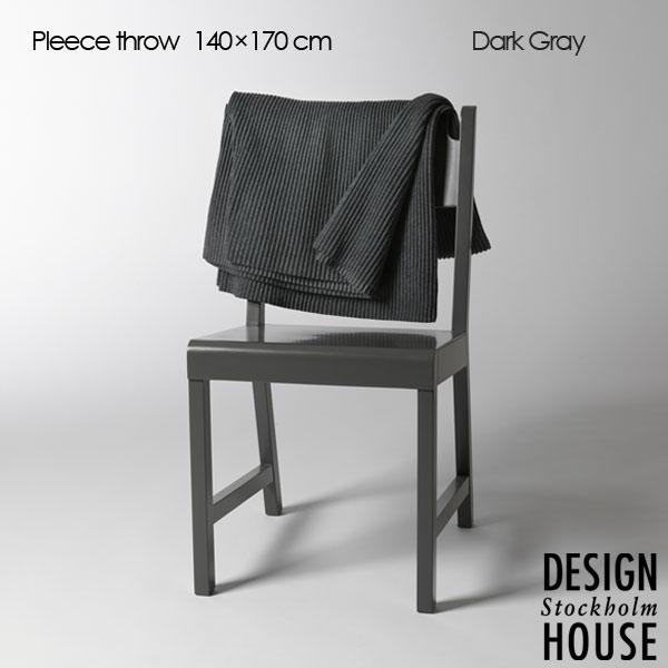 Pleece Throw(プリース・スロー)ダークグレー ひざ掛け140×170cm DESIGN HOUSE stockholm(デザインハウス ストックホルム)北欧デザイン【HLS_DU】【送料無料】