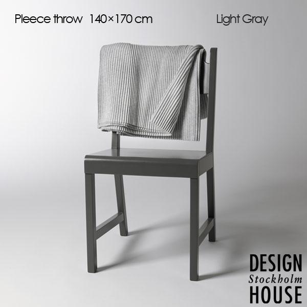 Pleece Throw(プリース・スロー)ライトグレー ひざ掛け140×170cm DESIGN HOUSE stockholm(デザインハウス ストックホルム)北欧デザイン【HLS_DU】【送料無料】