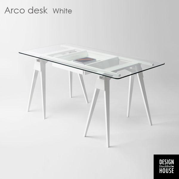 ARCO DESK (アルコ・デスク)ホワイト/DESIGN HOUSE stockholm(デザインハウス ストックホルム)スウェーデン 北欧デザイン【送料無料】