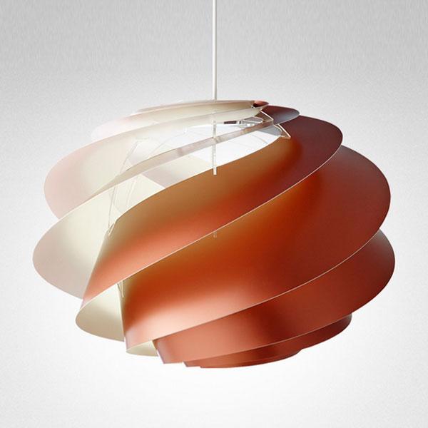 LE KLINT(レ クリント)Swirl(スワール)1Copper(コッパー)/ミディアムサイズ/デンマーク/北欧 ペンダントライト/デザイナーズ照明【送料無料】【コードカット対応】