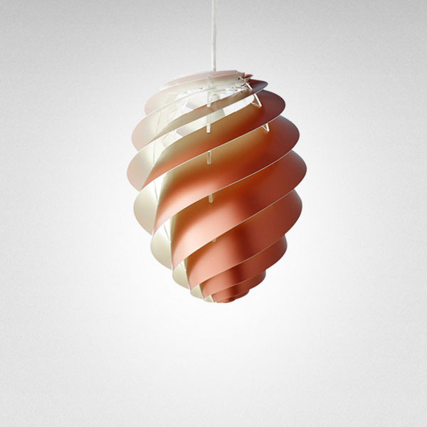 LE KLINT(レ クリント)Swirl(スワール)2Copper(コッパー)/Sサイズ/スモールサイズ デンマーク 北欧 ペンダントライト デザイナーズ照明【送料無料】【コードカット対応】