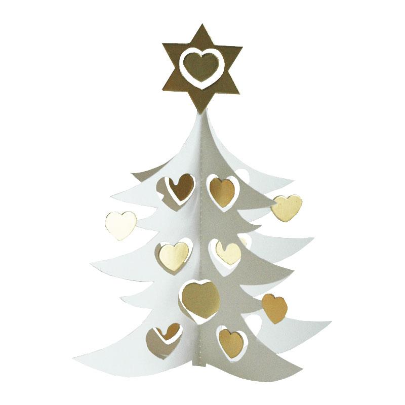 あす楽 北欧デンマークブランドLivingly リビングリー のクリスマスモビール White 5%OFF tree w hearts 店内限界値引き中 セルフラッピング無料 Livingly メール便対応 デンマーク HLS_DU double18cm 北欧クリスマスモビール