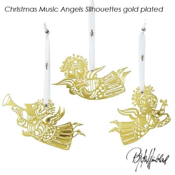 北欧デンマークデザイン オーナメント 予約10月 ビヨン ヴィンブラッド Bjorn Wiinblad ミュージックエンジェルゴールドプレート3枚セット クリスマスオーナメント Music 男女兼用 Christmas HLS_DU plated 57046 70%OFFアウトレット gold Angels Silhouettes 北欧デンマーク