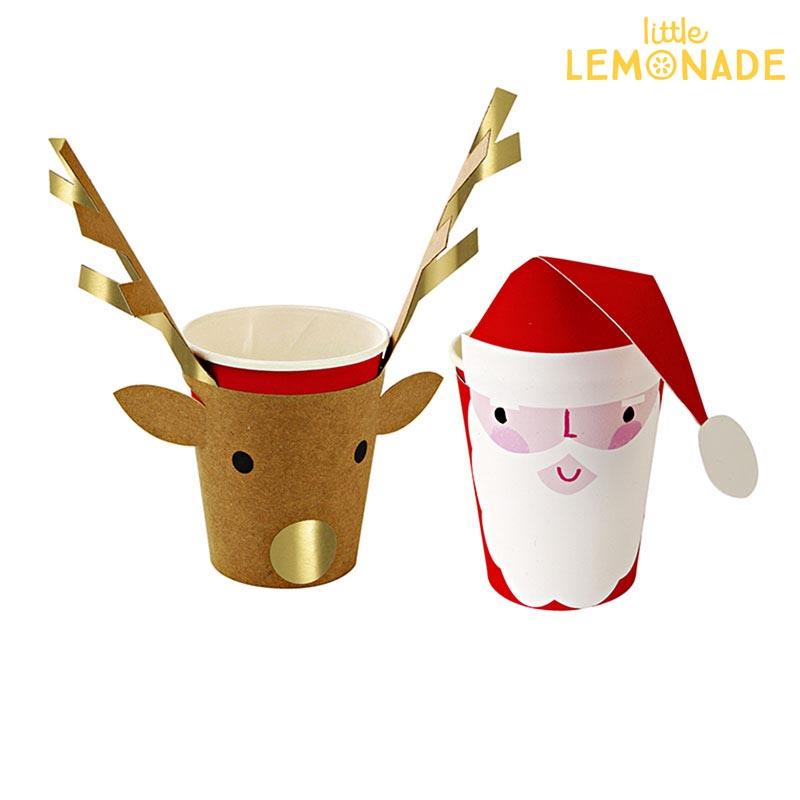 christmas santa reindeer paper cup santa claus party cup paper cups christmas party santa tree party decorations - Christmas Santa Reindeer