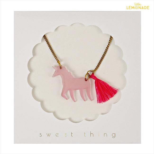【MeriMeriメリメリ】ネックレス【PinkUnicorn・ユニコーン・タッセル付】