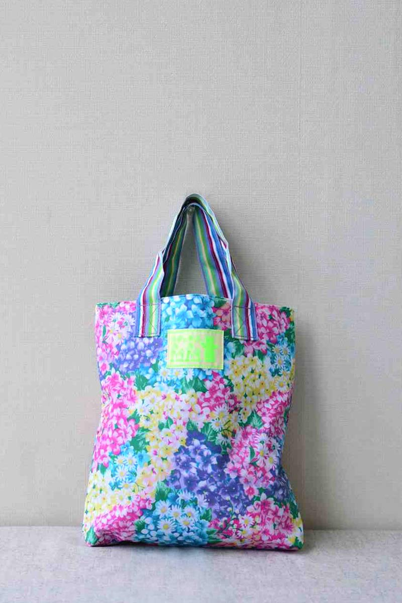 """18/"""" Doll Clothes  Short Set 3 pc Pink Jean Shorts Top /& Tote Bag  Flowers"""