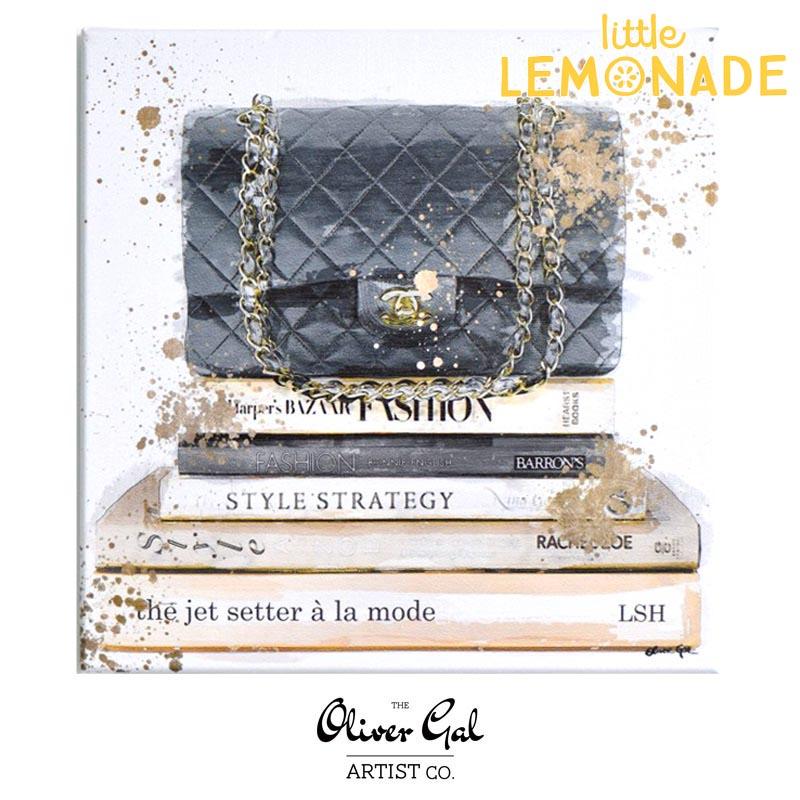 【Oliver Gal Art】Jetsetter a la Mode / CHANEL Black Hand Bag  (15814) オリバー・ガル アートボード リトルレモネード