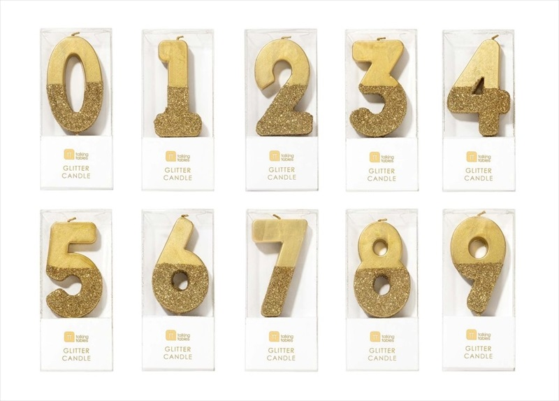 Peter Pan glitter birthday number candle comes in any number you like