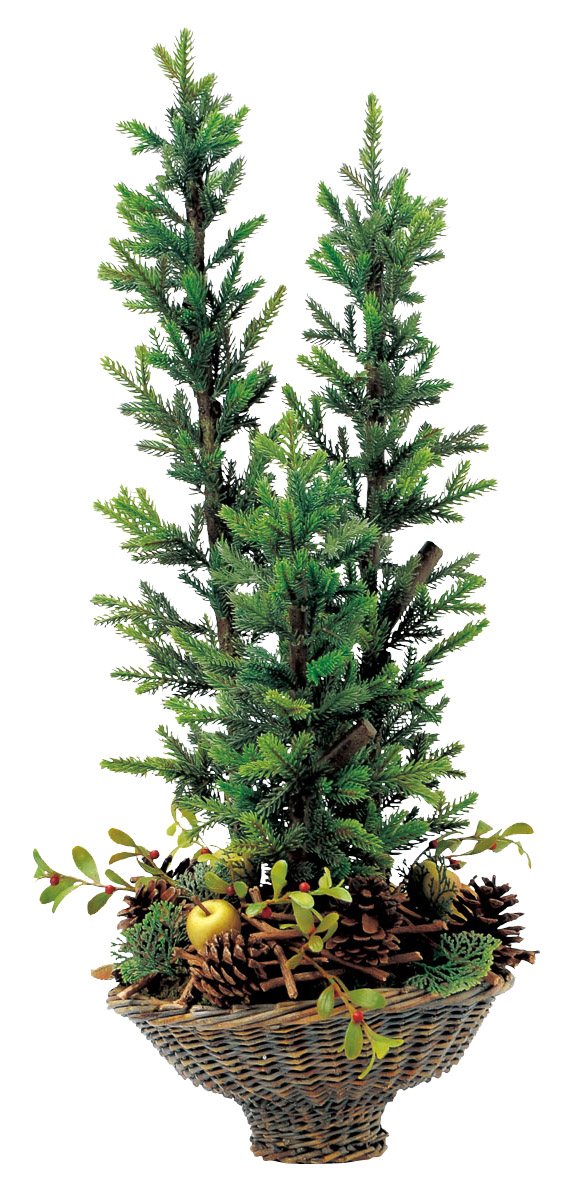 ★エントリーで全商品10倍!★ [ Christmas:クリスマス ] クリスマスツリーバスケットH62